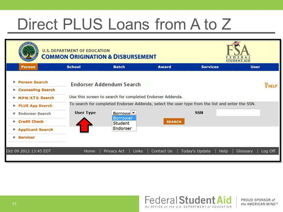 Direct PLUS Loans from A to Z 51