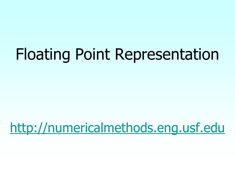 3 Floating Decimal Point : Scientific Form