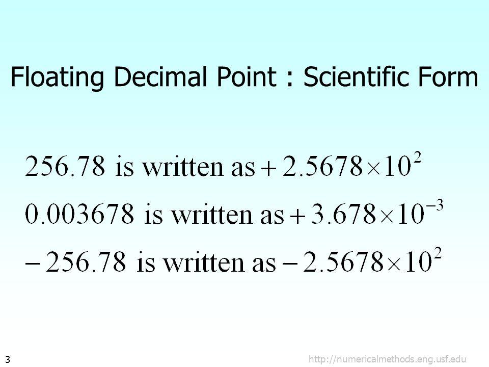 14 Example#1 11010001010100000000000000000000 Sign (s) Biased Exponent (e') Mantissa (m)
