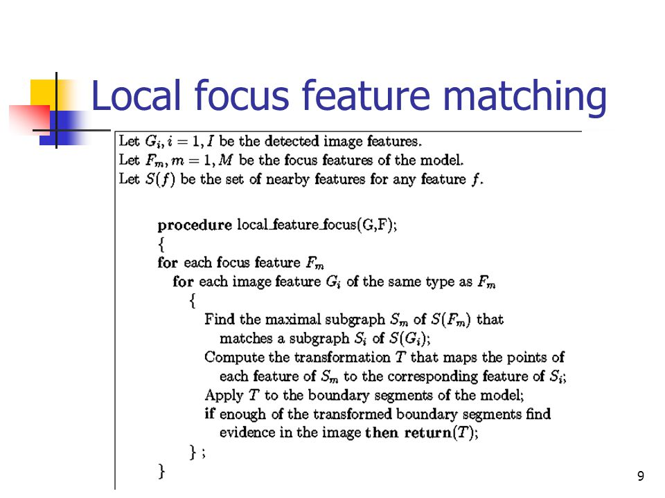 CVPR04 Stockman9 Local focus feature matching