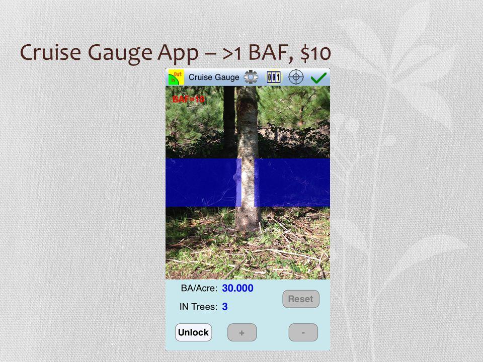 Cruise Gauge App – >1 BAF, $10