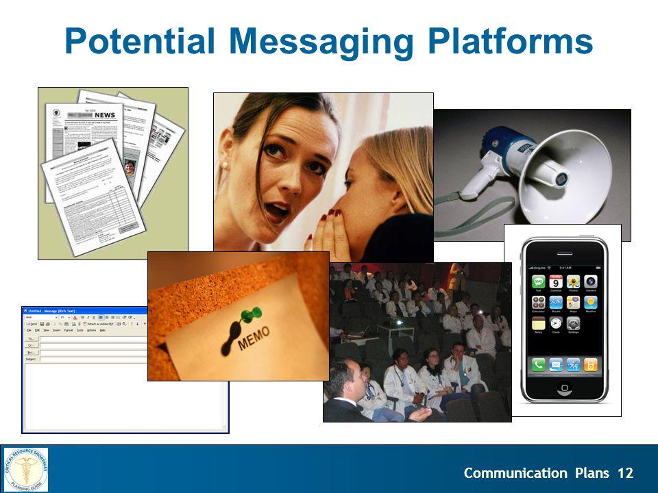 12Communication Plans Potential Messaging Platforms