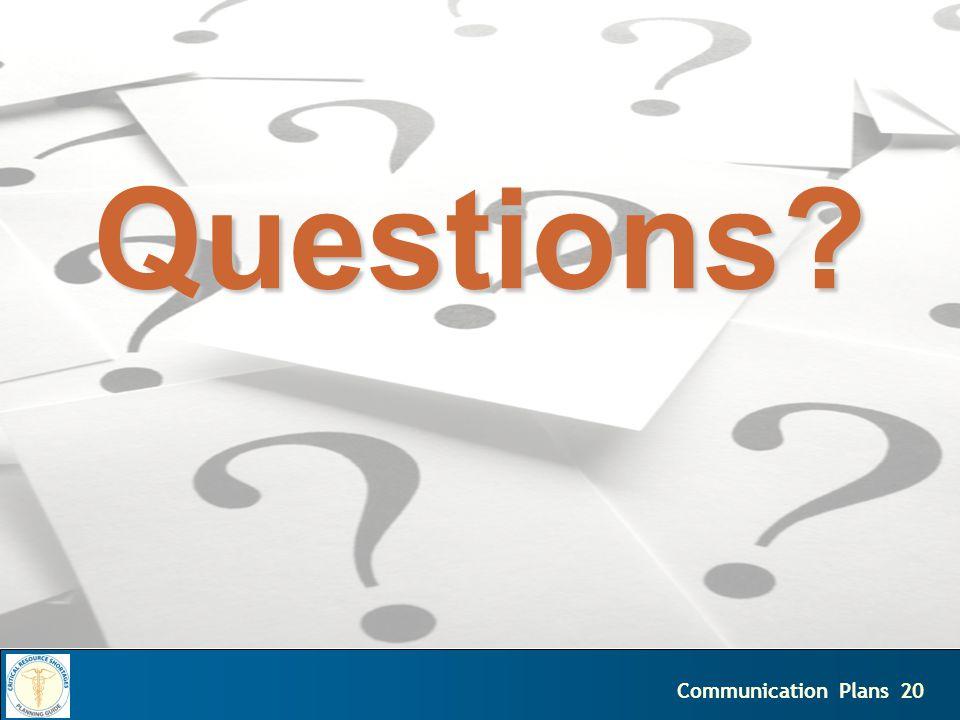 20Communication Plans Questions