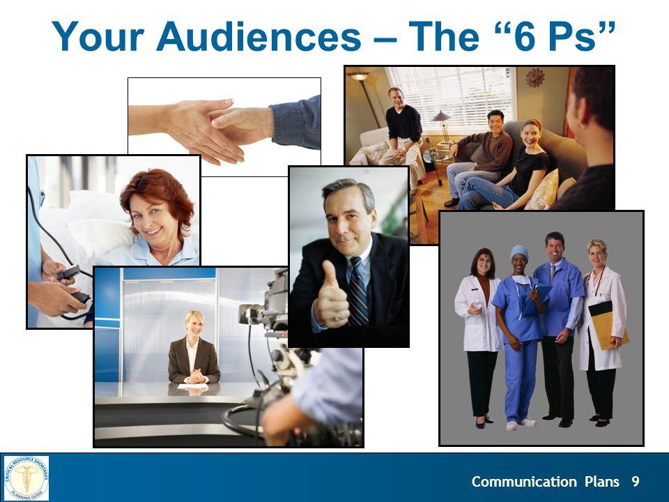 9Communication Plans Your Audiences – The 6 Ps