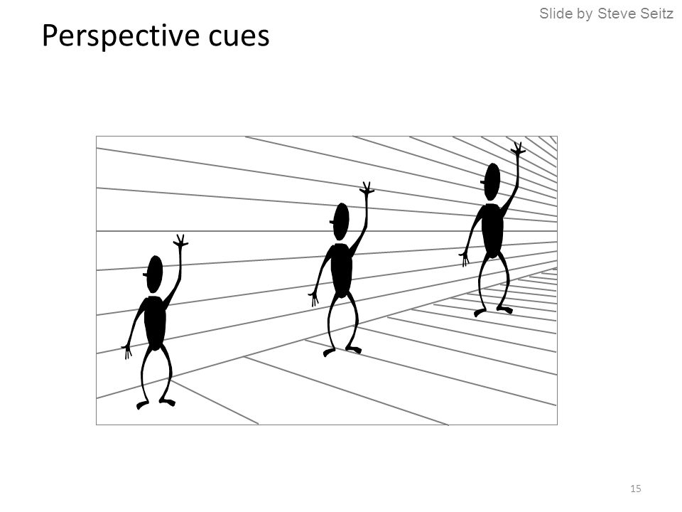 Perspective cues Slide by Steve Seitz 15