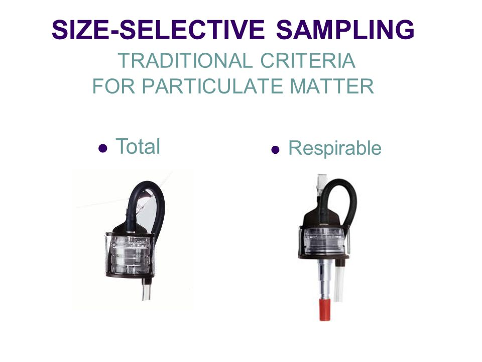 SIZE-SELECTIVE SAMPLING TRADITIONAL CRITERIA FOR PARTICULATE MATTER Total Respirable