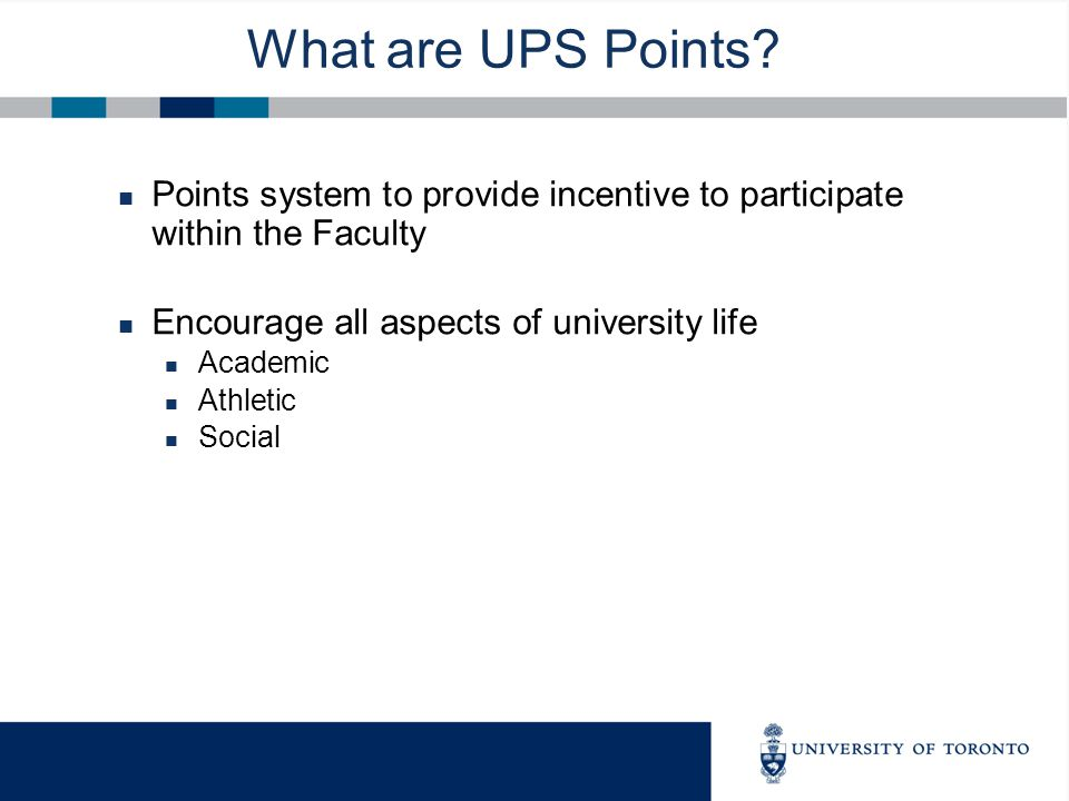 What are UPS Points.