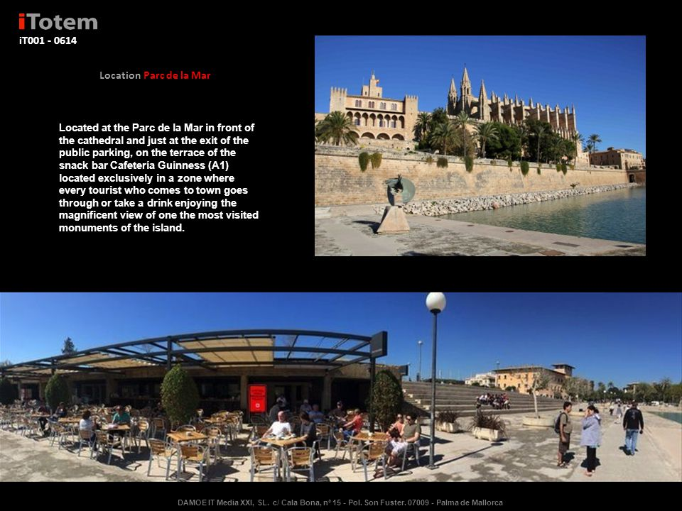iT003 – Sea front of Palma de Mallorca.Located in the center of the promenade of Palma.