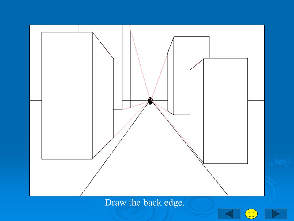 Draw the back edge.