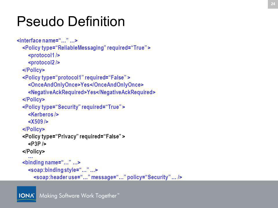 24 Pseudo Definition Yes …