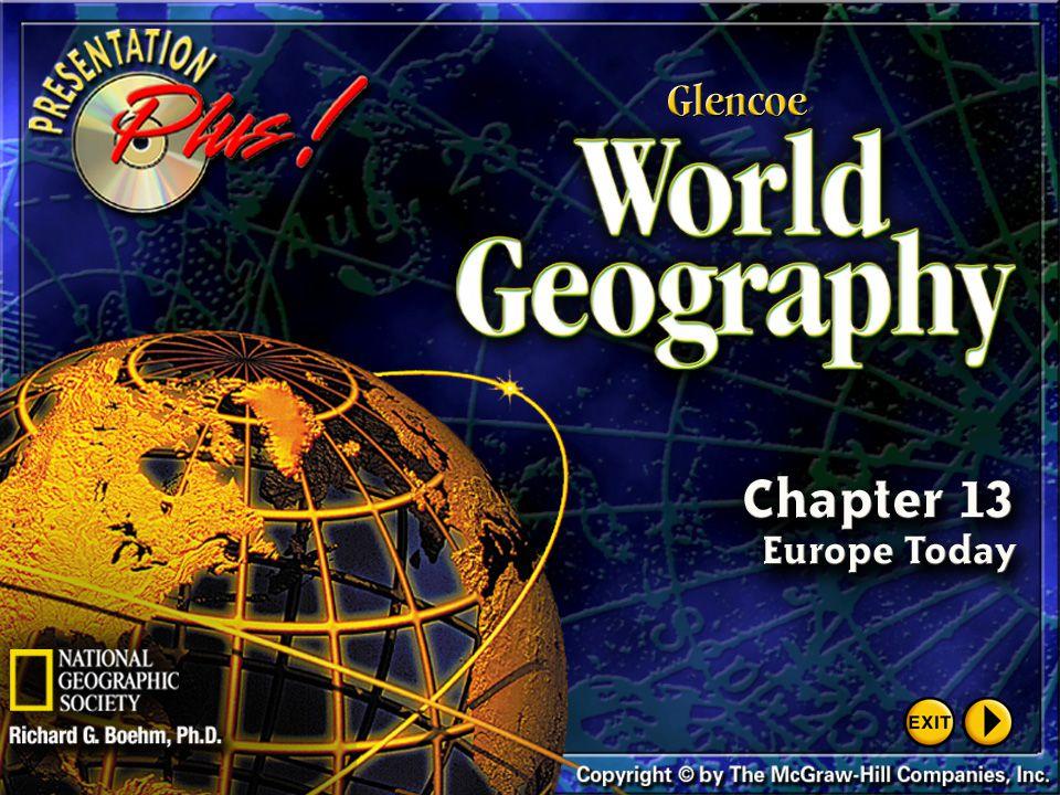 Presentation Plus! Glencoe World Geography Copyright © by The McGraw-Hill Companies, Inc. Developed by FSCreations, Inc., Cincinnati, Ohio 45202 Send