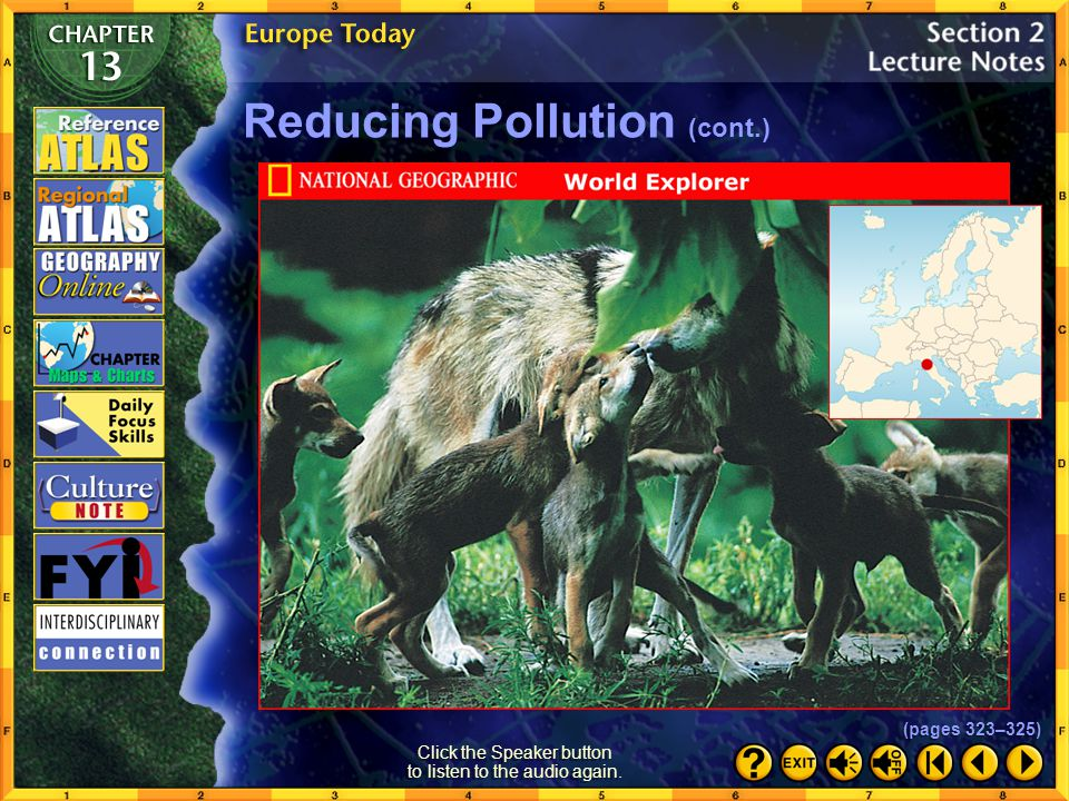 Section 2-19 Click the mouse button or press the Space Bar to display the information. Reducing Pollution Concern for the Environment Europeans today