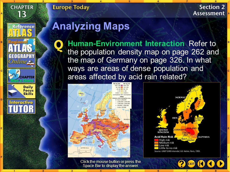 Section 2-29 Click the mouse button or press the Space Bar to display the answer. Making Generalizations What are some of Europe's major challenges as