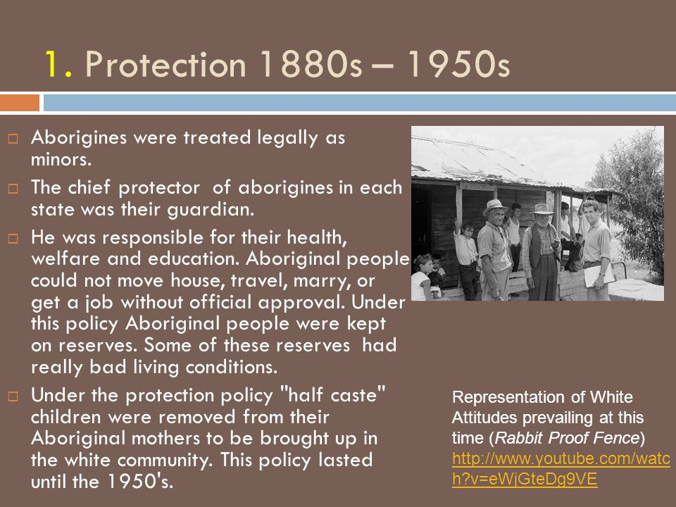 Protectionism: State Acts  Victoria 1886  Queensland 1897  Western Australia 1905  New South Wales 1909  South Australia 1911