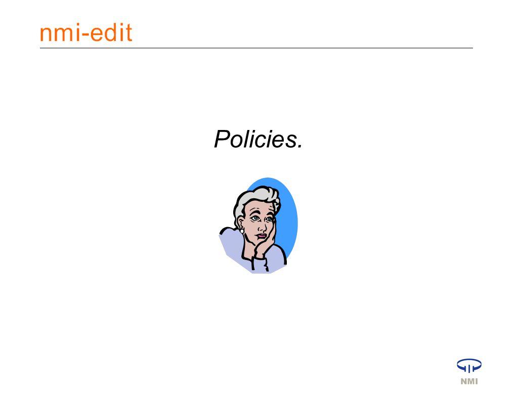 Policies.