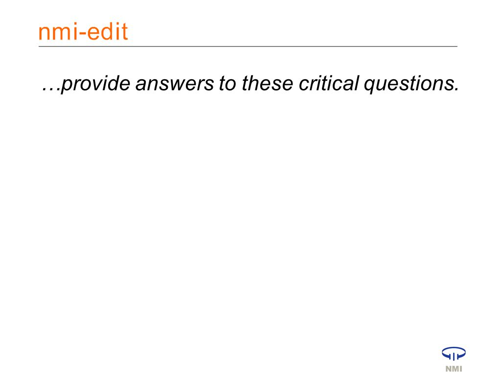 …provide answers to these critical questions.