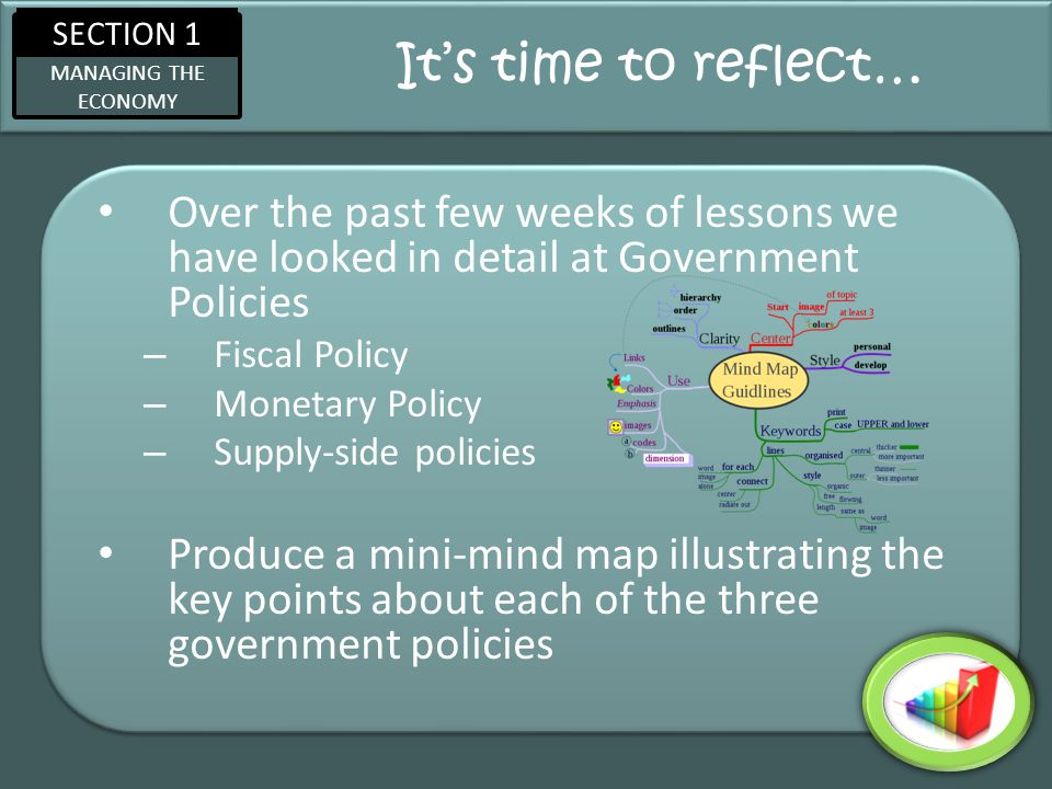 SECTION 1 MANAGING THE ECONOMY Recap Questions… 1.What is meant by supply-side.