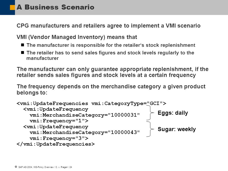  SAP AG 2004, WS-Policy Overview / C.v.