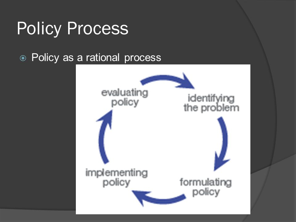 Policy Process  Policy as a rational process