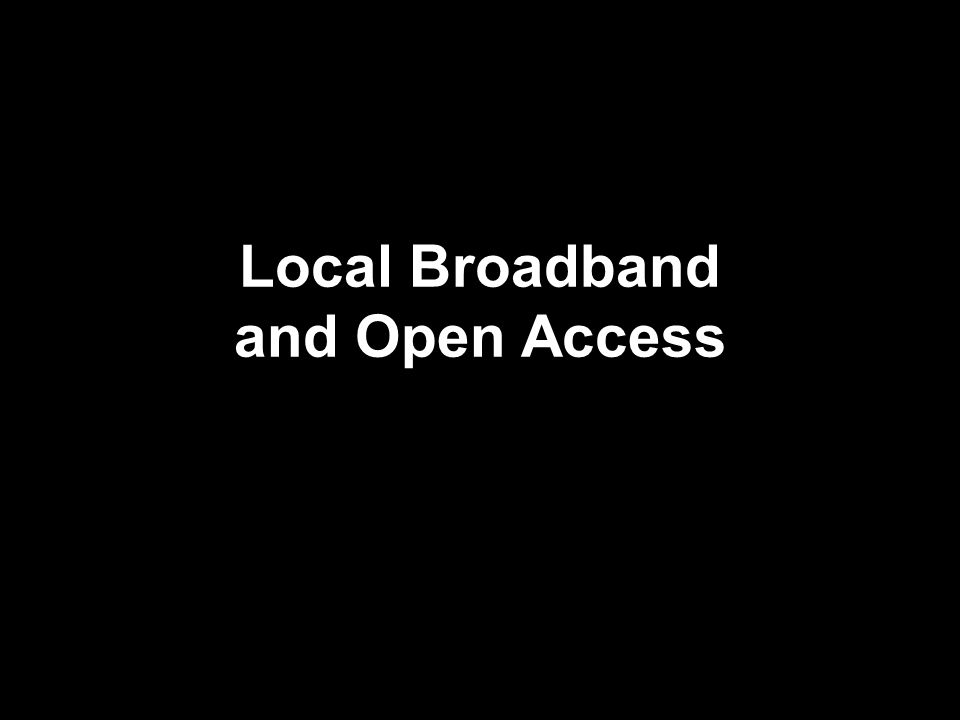 Context Asymetric regulation: cable and telcos Broadband deployment: xDSL v.