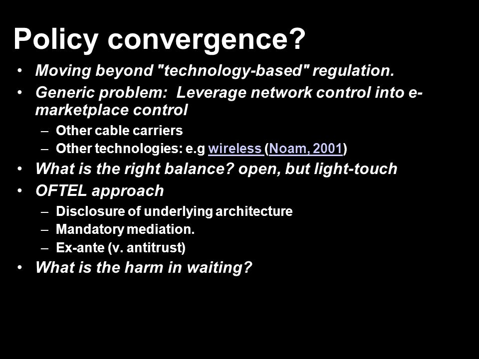 Policy convergence? Moving beyond