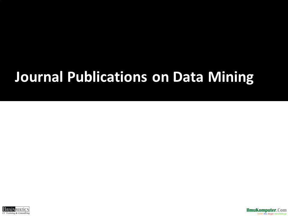 Journal Publications on Data Mining