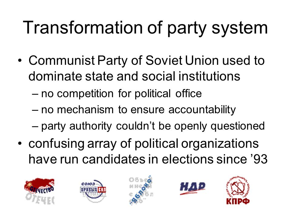 New political parties government efforts at tightening the conditions for party formation and registration –effect on small parties –effect on party coalitions suppress democratic representation.