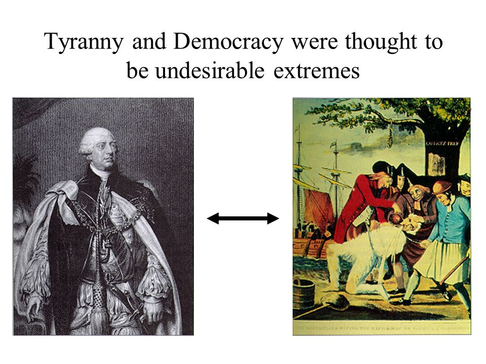 Tyranny and Democracy were thought to be undesirable extremes