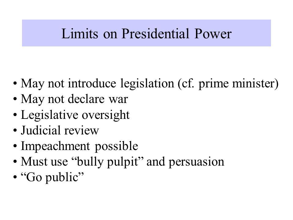 May not introduce legislation (cf.