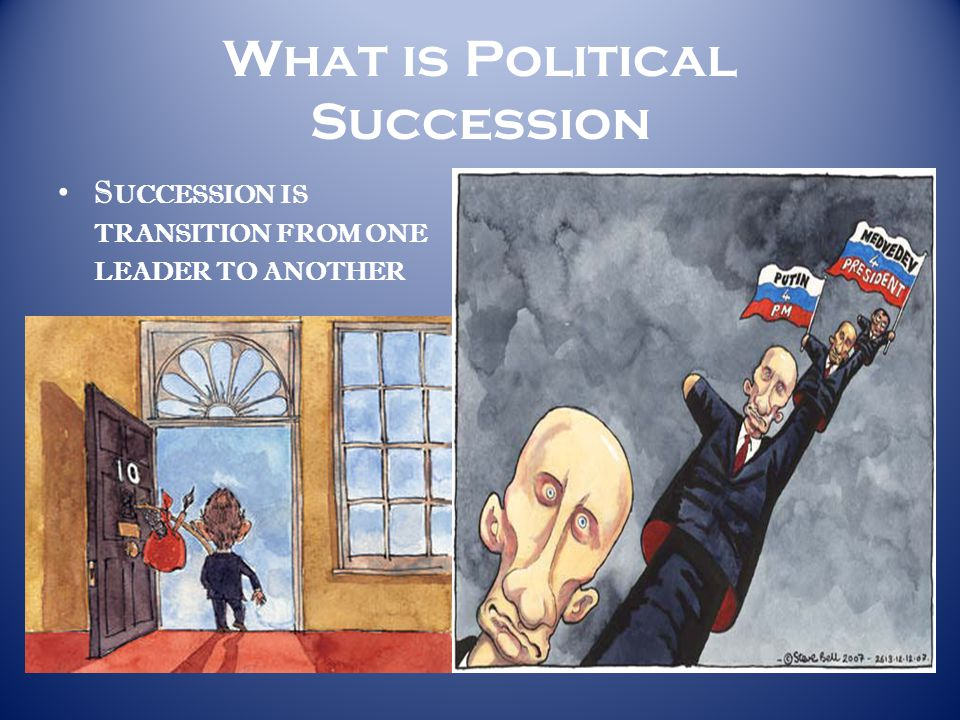 What is Political Succession S UCCESSION IS TRANSITION FROM ONE LEADER TO ANOTHER
