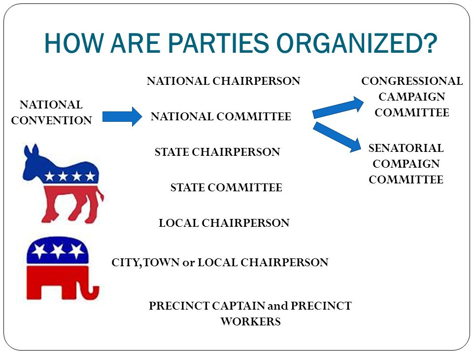 HOW ARE PARTIES ORGANIZED.