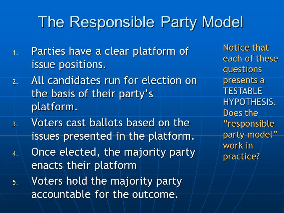 But… Do parties have clear issue positions.Do parties have clear issue positions.