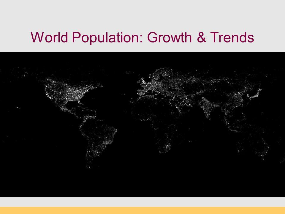 World Population: Growth & Trends