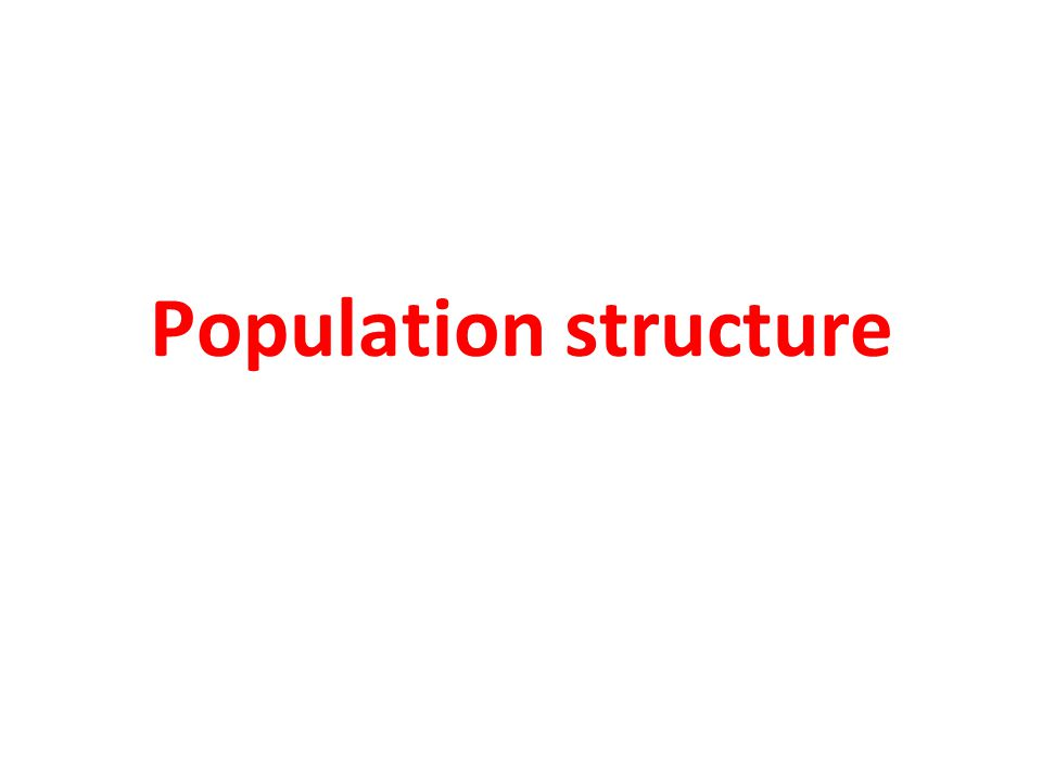 Population structure in case-control studies Population consists of underlying subpopulations.