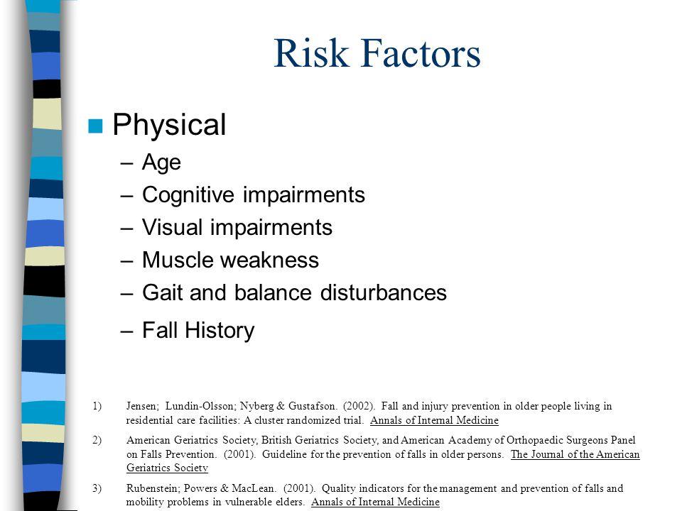 Fall Risk Assessment Rubenstein; Powers & MacLean.