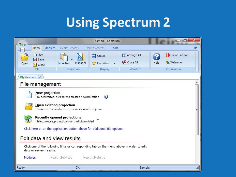 Using Spectrum 2