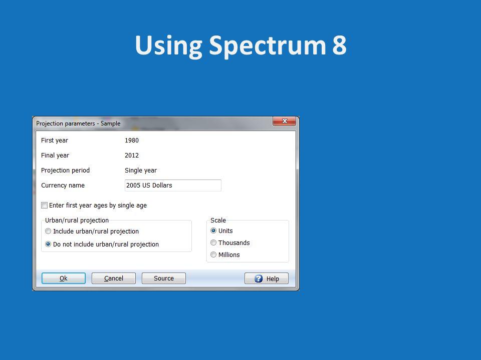 Using Spectrum 8