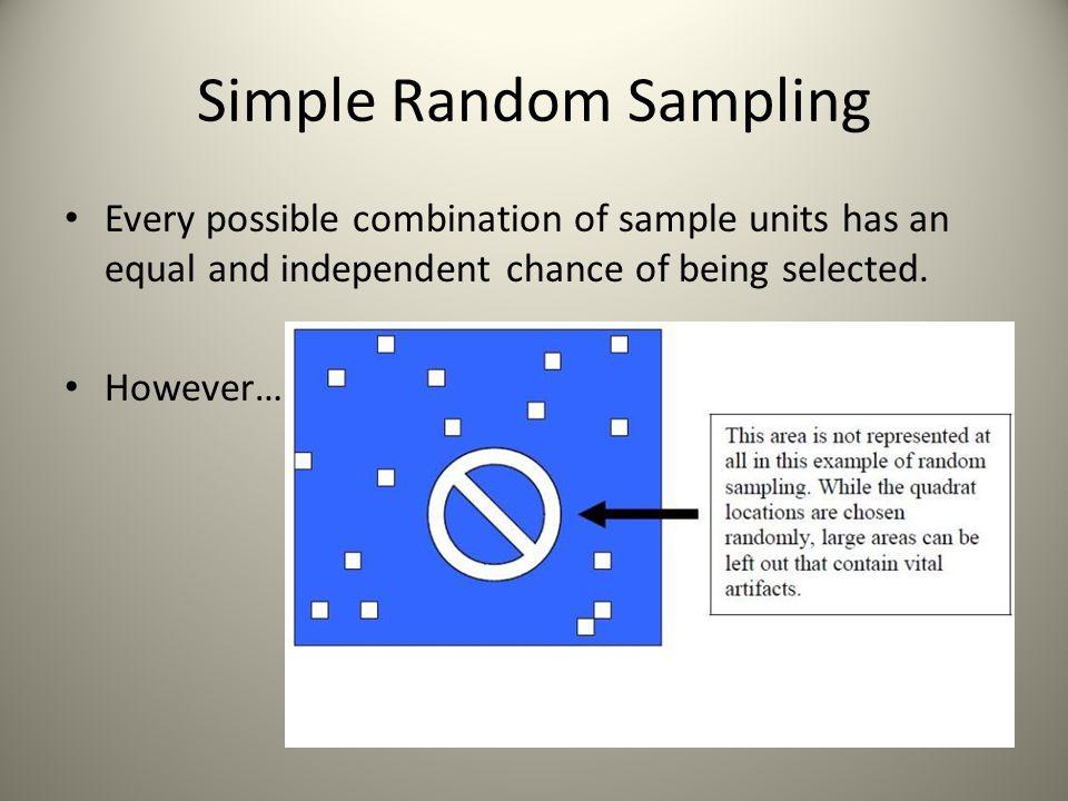 Systemic Sampling Beware coincidental bias of sample interval and natural area.
