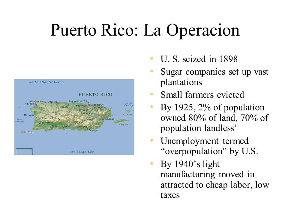 Puerto Rico: La Operacion U. S.