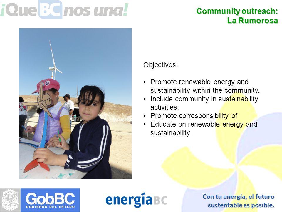 Con tu energía, el futuro sustentable es posible.