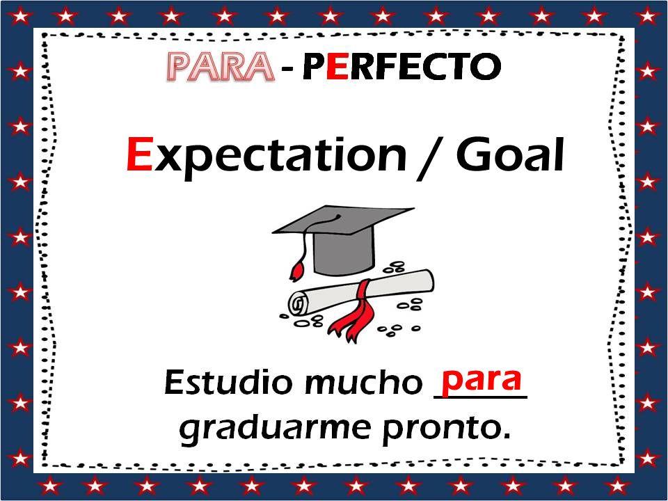 Expectation / Goal para