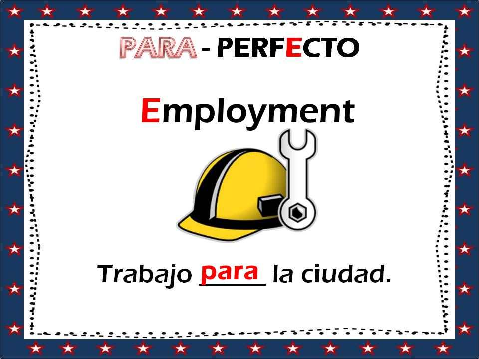 Employment para
