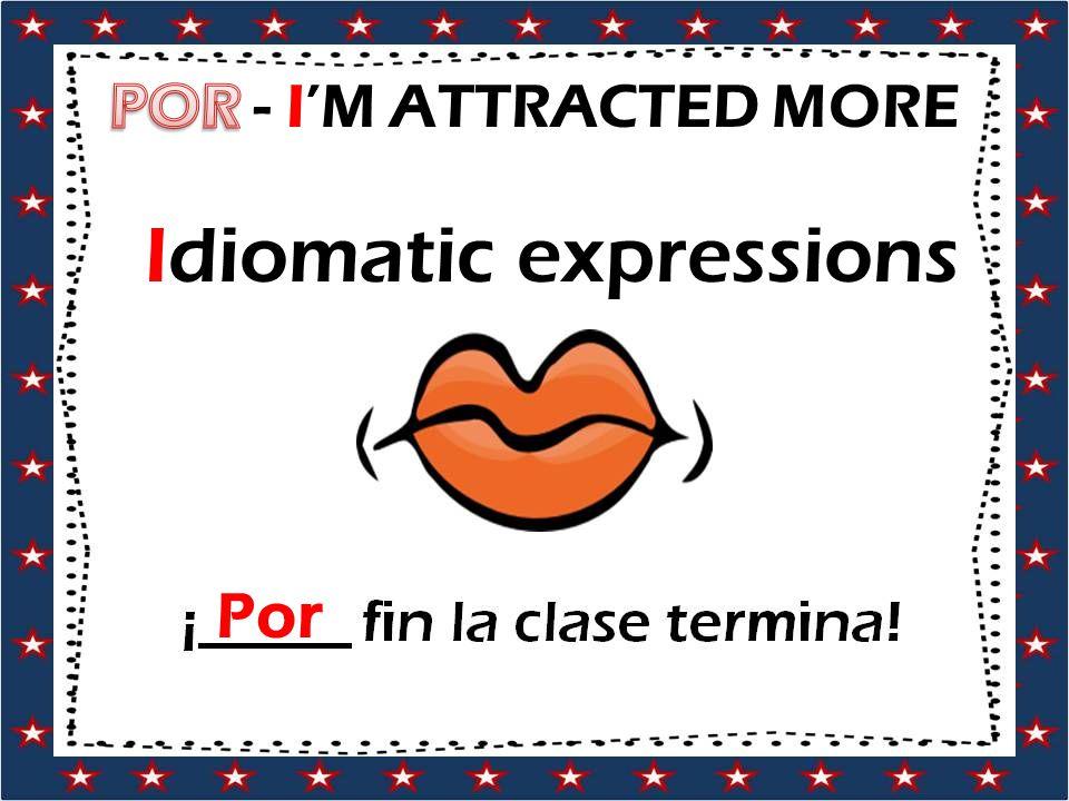 Idiomatic expressions Por