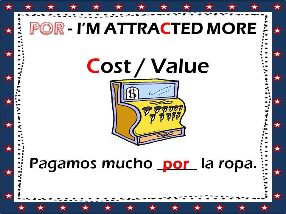 Cost / Value por