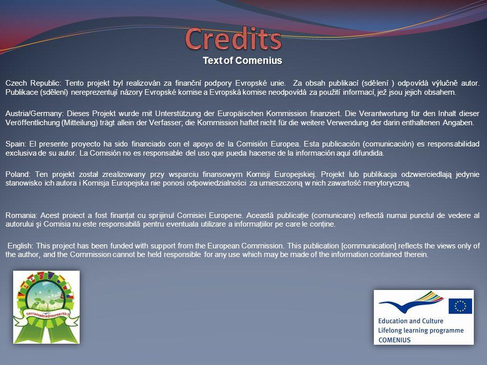Text of Comenius Czech Republic: Tento projekt byl realizován za finanční podpory Evropské unie.