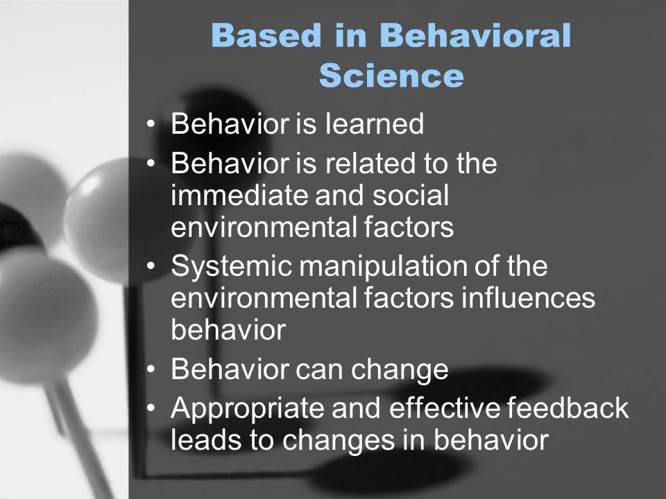 Positive Behavior Support (PBS) is a general term that refers to the application of an applied science that uses proactive and effective educational methods, behavioral interventions, environmental redesign and systems change methods to support individuals who exhibit disruptive and/or dangerous behaviors in school, work, social, community and family settings (Carr et al., 2002; Horner et al., 1990).