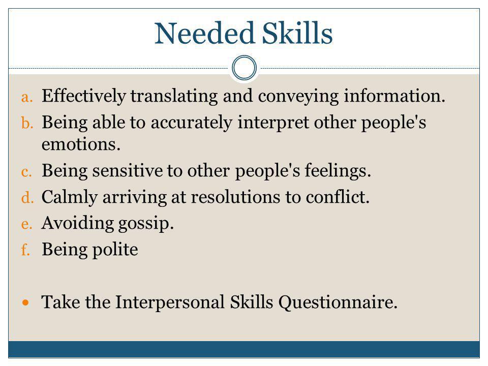 Communication Styles a.Direct b. Indirect c. Non-communicative d.