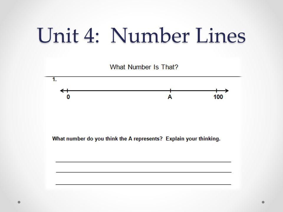 Unit 4: Number Lines