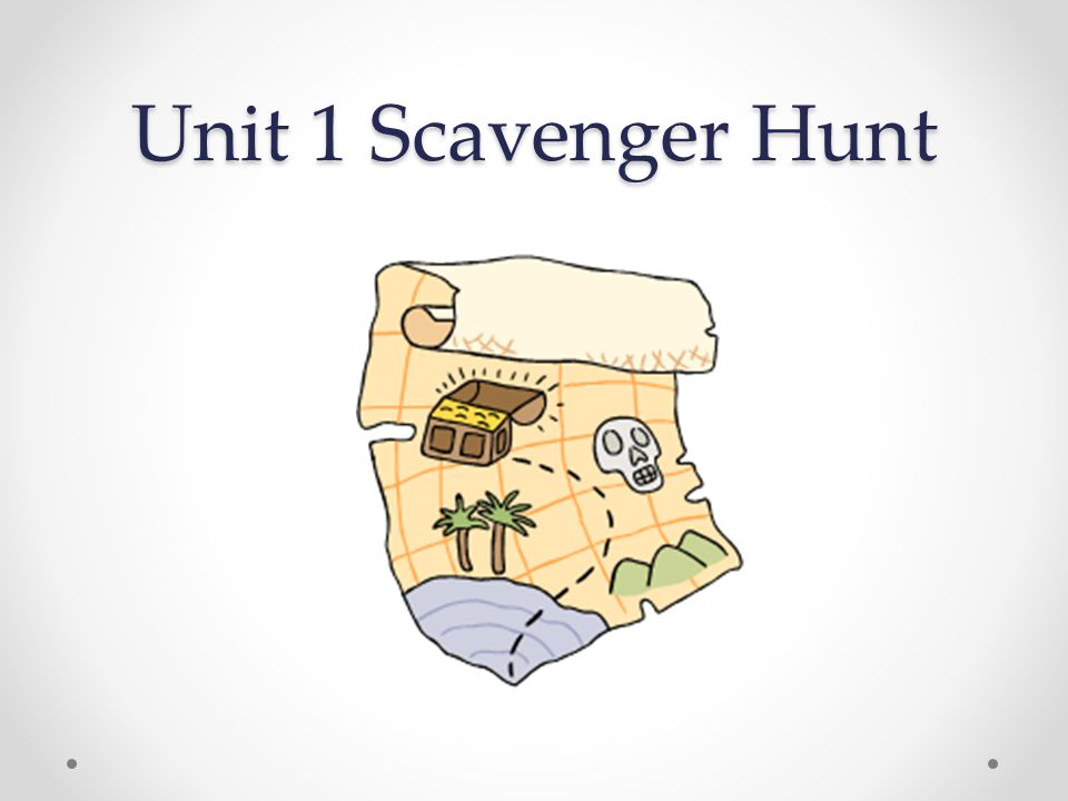 Unit 1 Scavenger Hunt