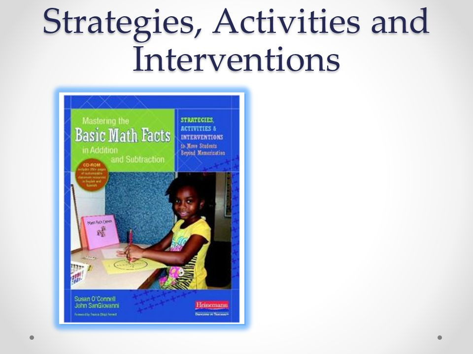 Strategies, Activities and Interventions